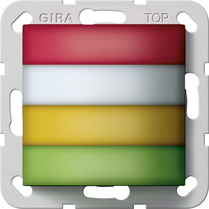 Gira Lampe de signalisation de chambre rouge, blanche, jaune, verte