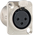 Flange jack 3-pole D series