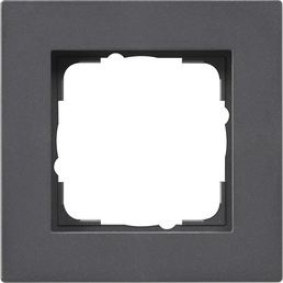 gira abdeckrahmen gira e2 f r den flachen einbau anthrazit. Black Bedroom Furniture Sets. Home Design Ideas