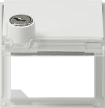 gira adapterrahmen mit klappdeckel schloss und. Black Bedroom Furniture Sets. Home Design Ideas