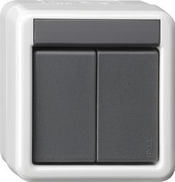 gira knx taster busankoppler wg ap 2fach mit 2 punkt bedienung. Black Bedroom Furniture Sets. Home Design Ideas