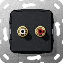 gira online katalog einsatz cinch audio kupplung. Black Bedroom Furniture Sets. Home Design Ideas
