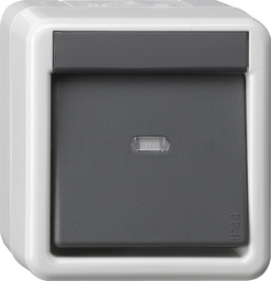 Series dimmer, F100, pure white glossy